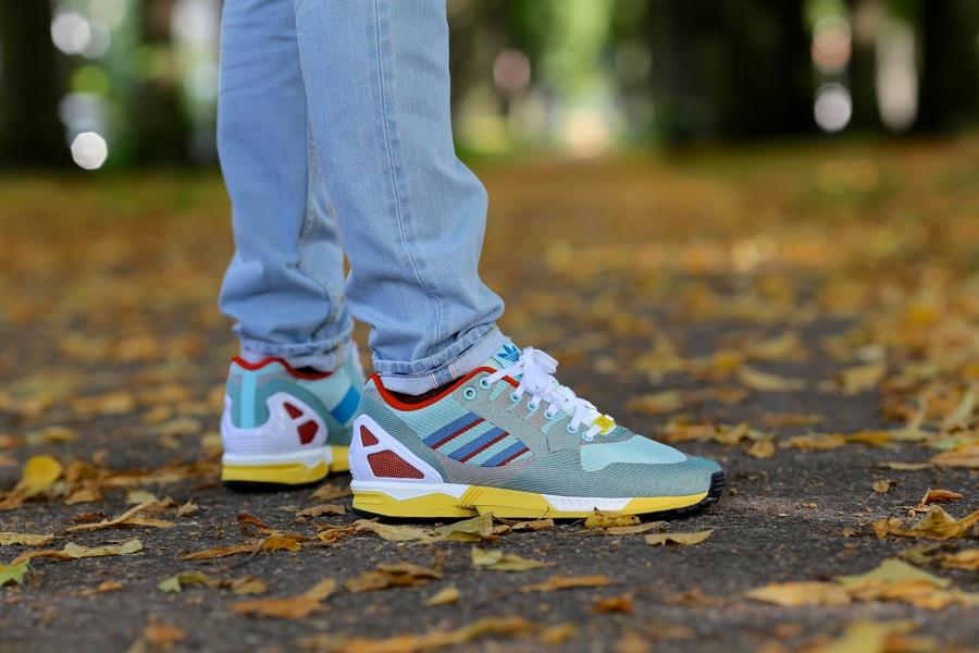 2017 Online Kaufen Adidas Zx Flux Weave Schuhe Grau Rot