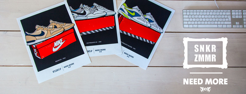 Need More x Sneaker Zimmer – Win 1 of 3 Fineart Prints