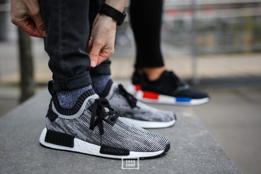 adidas nmd schwarz weiß