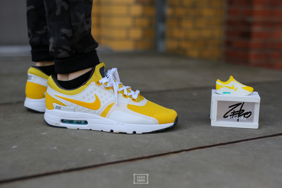 Air Max Zero Yellow On Feet