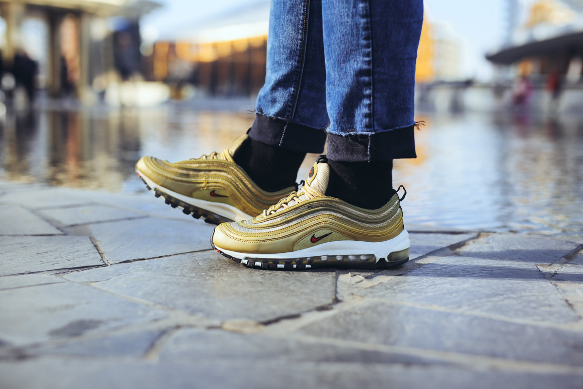 sneaker nike air max 97 gelb gold
