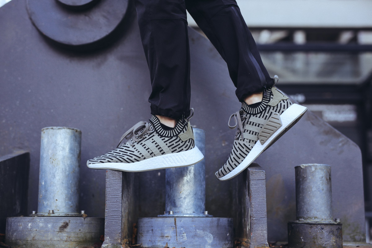 Adidas Nmd R2 Pk Utility Black Core Black White Hers trainers