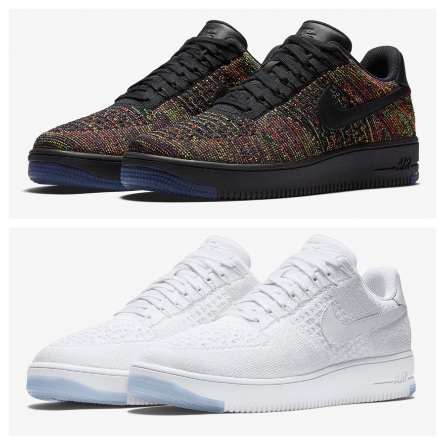 detailed look 29bcd 6ac0e Nachdem bereits im Januar der Nike-Klassiker Air Force 1 in der Mid-Version  als ultraleichter Flyknit erschien, folgen nun die ersten Low-Colorways.
