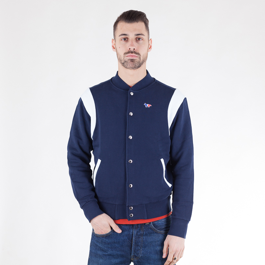 kitsune-teddy-tricolor-fox-patch-jacket-navy-01