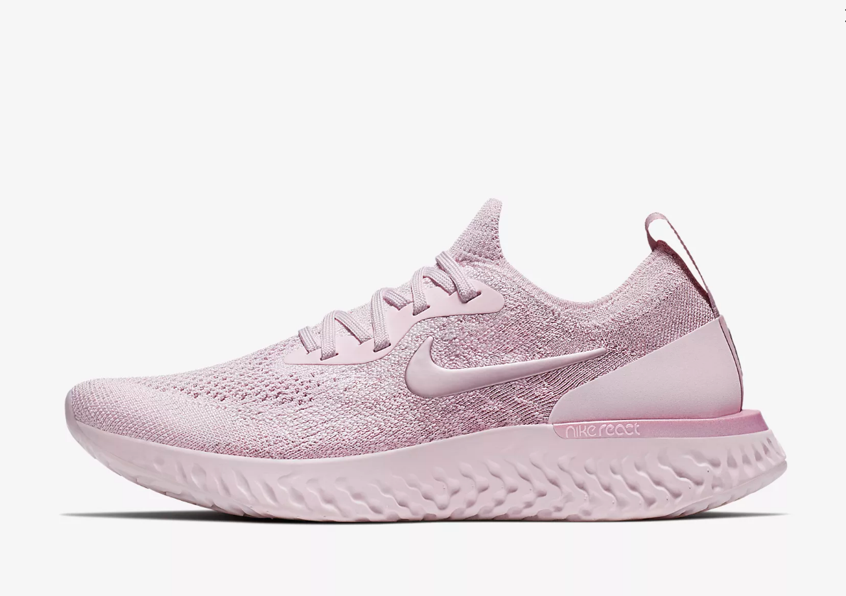 sneaker nike epic react flyknit pink. Black Bedroom Furniture Sets. Home Design Ideas